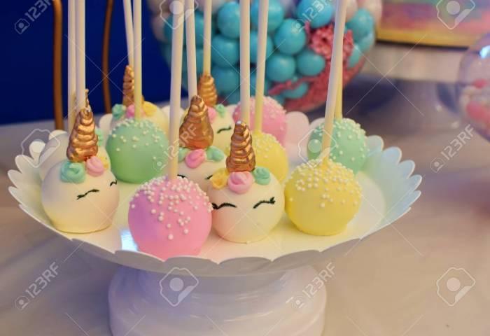 Unicorn Cakes Unicorn Cake Pops