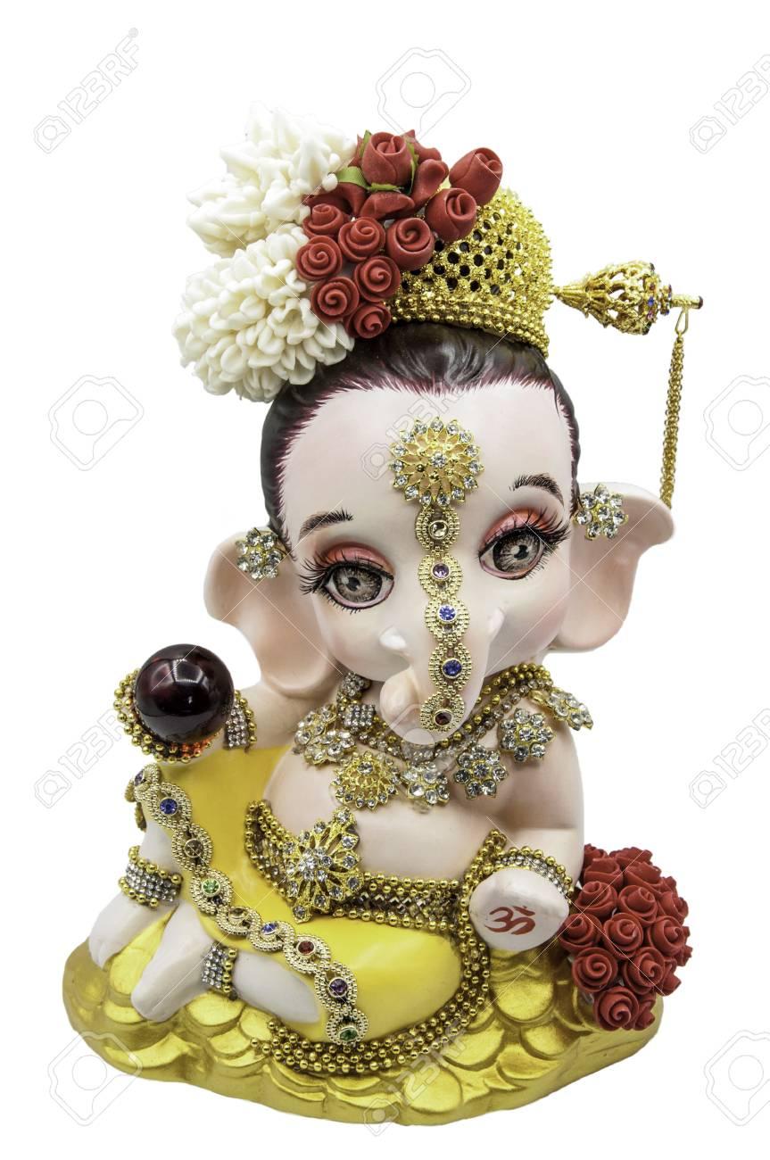 Hindu God Ganesha Thai Dress Ganesha Idol On White Background Isolate Stock Photo Picture And Royalty Free Image Image 80619764