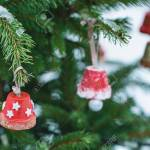 Handmade Decoration On A Christmas Tree Outdoor Diy Creative Stock Photo Picture And Royalty Free Image Image 136107484