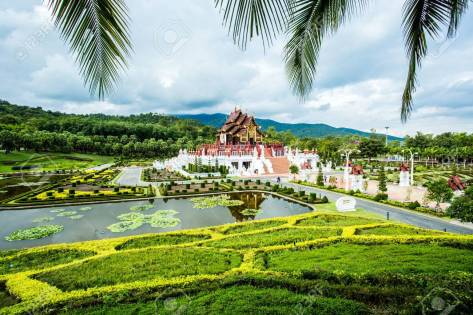 Horkumluang In The Royal Flora Garden Chiangmai Thailand Stock Photo,  Picture And Royalty Free Image. Image 33536365.