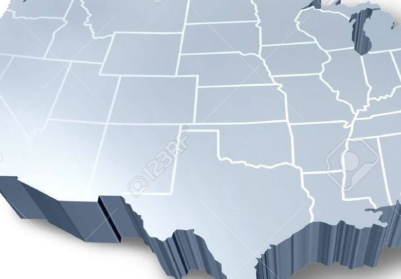 HD Decor Images » 3d Map Usa States