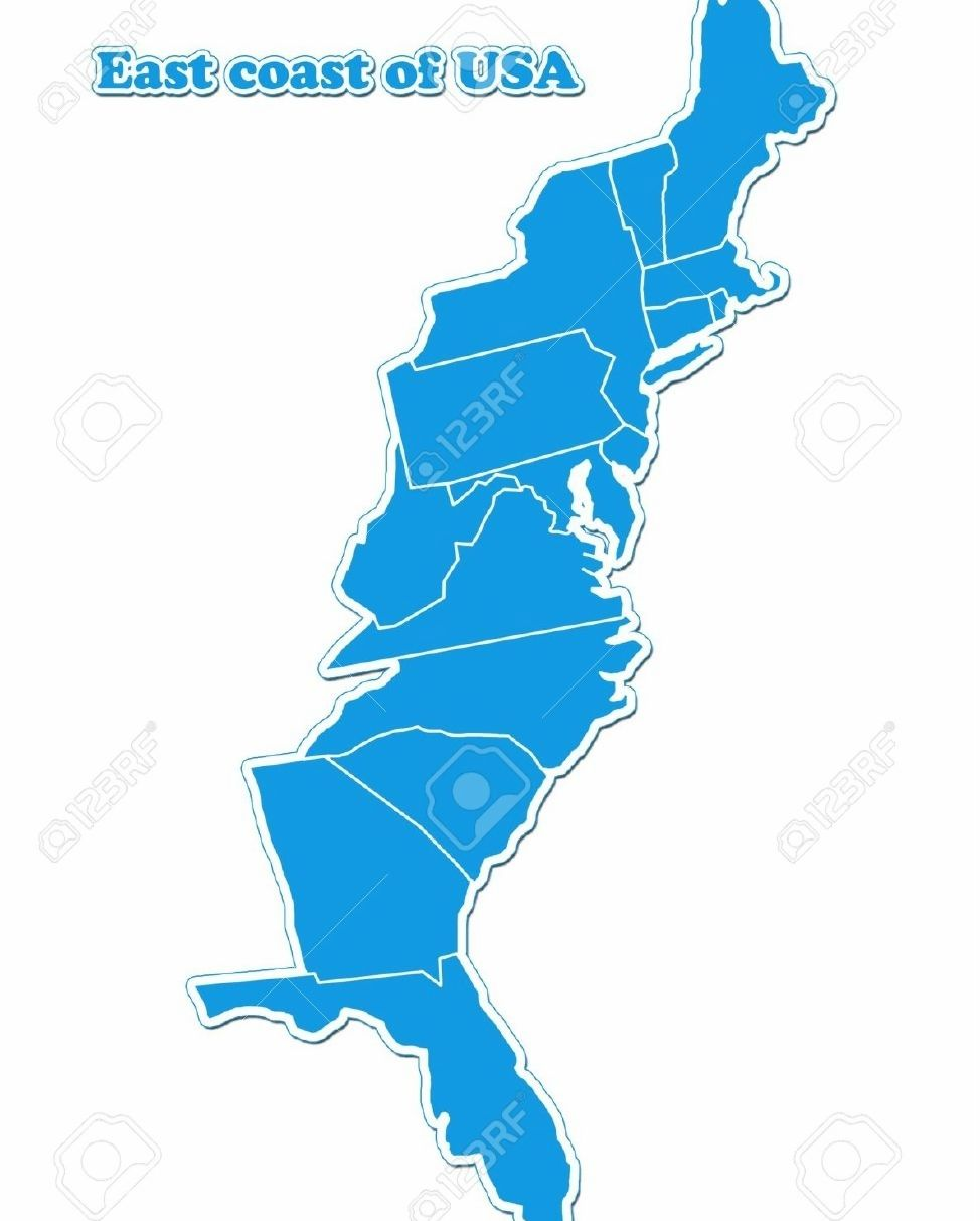 images for usa map east coast