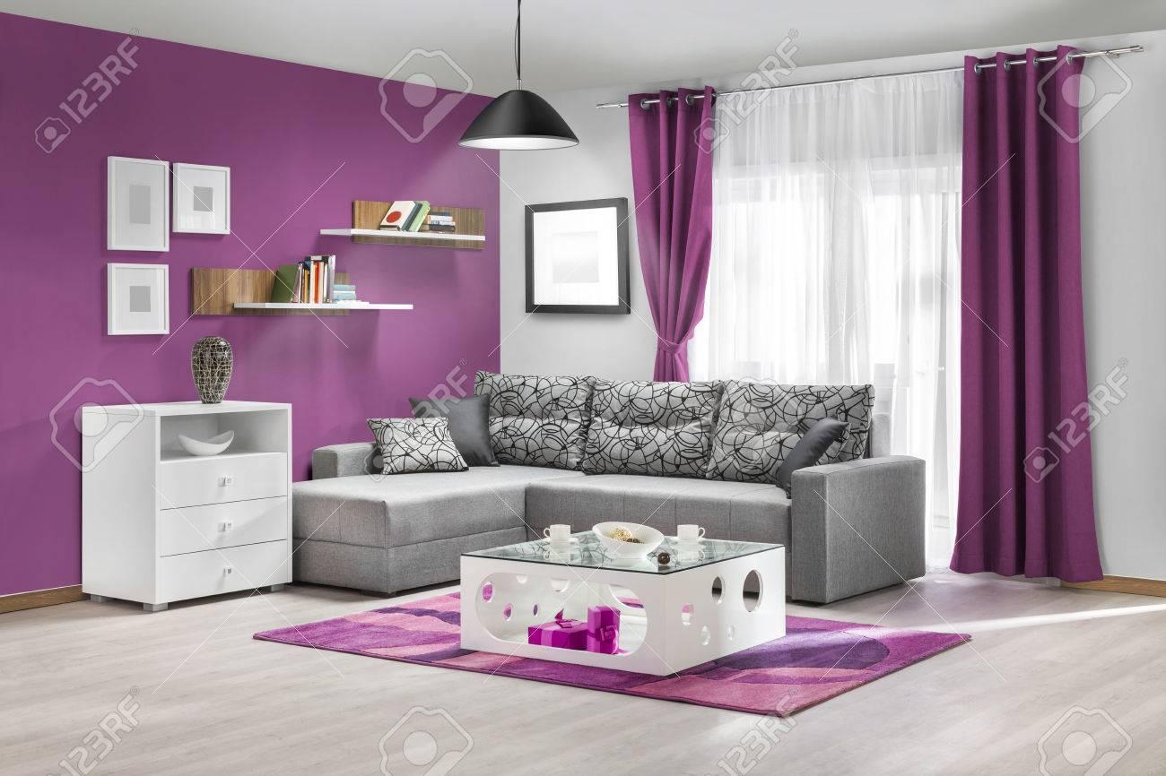 interieur d un salon moderne en couleur banque d images et photos libres de droits image 51760629