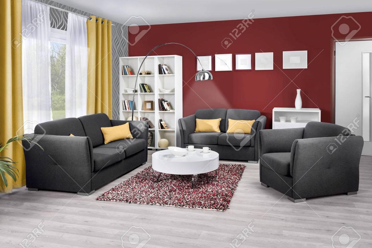 interieur d un salon moderne de couleur banque d images et photos libres de droits image 51760724
