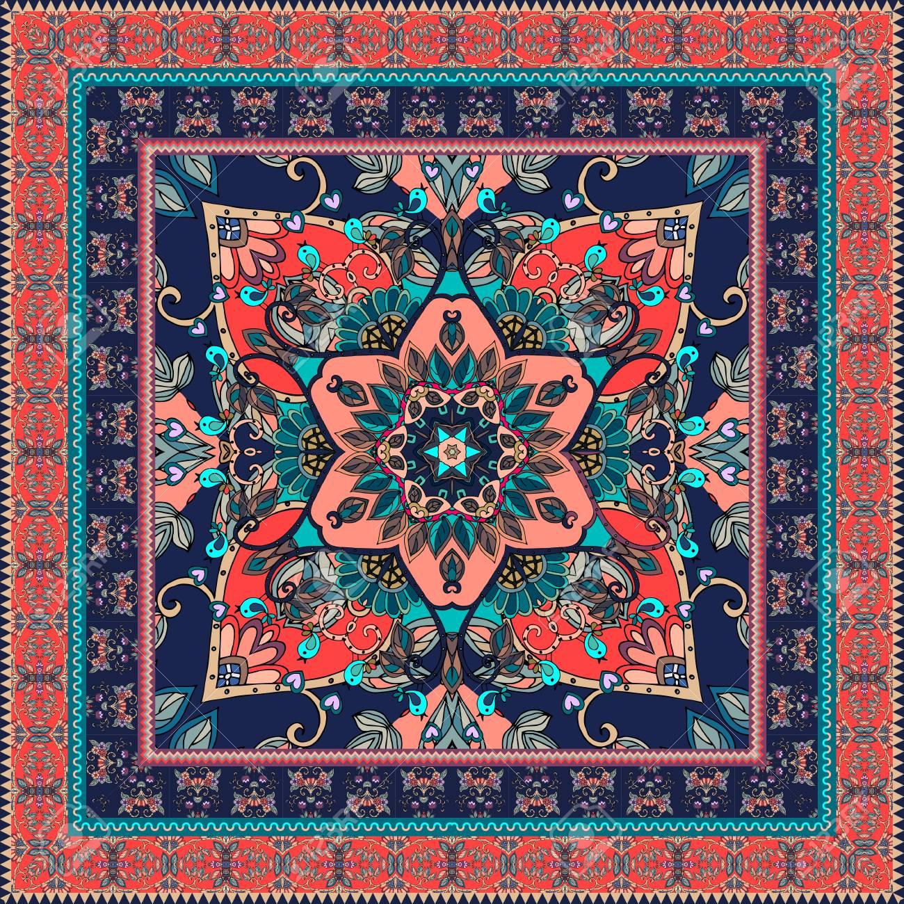 banque d images echarpe orientale avec une belle bordure belle nappe tapis imprime ethnique bandana taie d oreiller imprimer pour le tissu