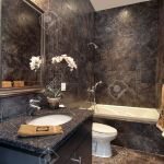 Luxury Powder Room With Black Granite Walls Stock Photo Picture And Royalty Free Image Image 6732494