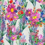 Seamless Pattern With Beautiful Flowers Watercolor Or Acrylic Stock Photo Picture And Royalty Free Image Image 160925029