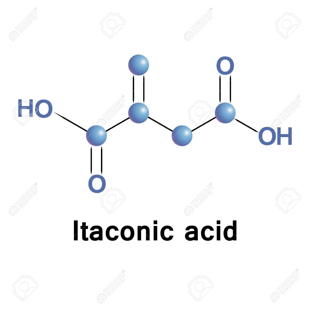 Lacido Itaconico O Acido Metilensuccinico è Un Composto Organico Ottenuto Dalla Distillazione Dellacido Citrico Si Tratta Di Un Blocco