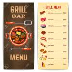 Grill Restaurant Menu With Barbecue Food Meat Dishes Vector Illustration Royalty Free Cliparts Vectors And Stock Illustration Image 41538714