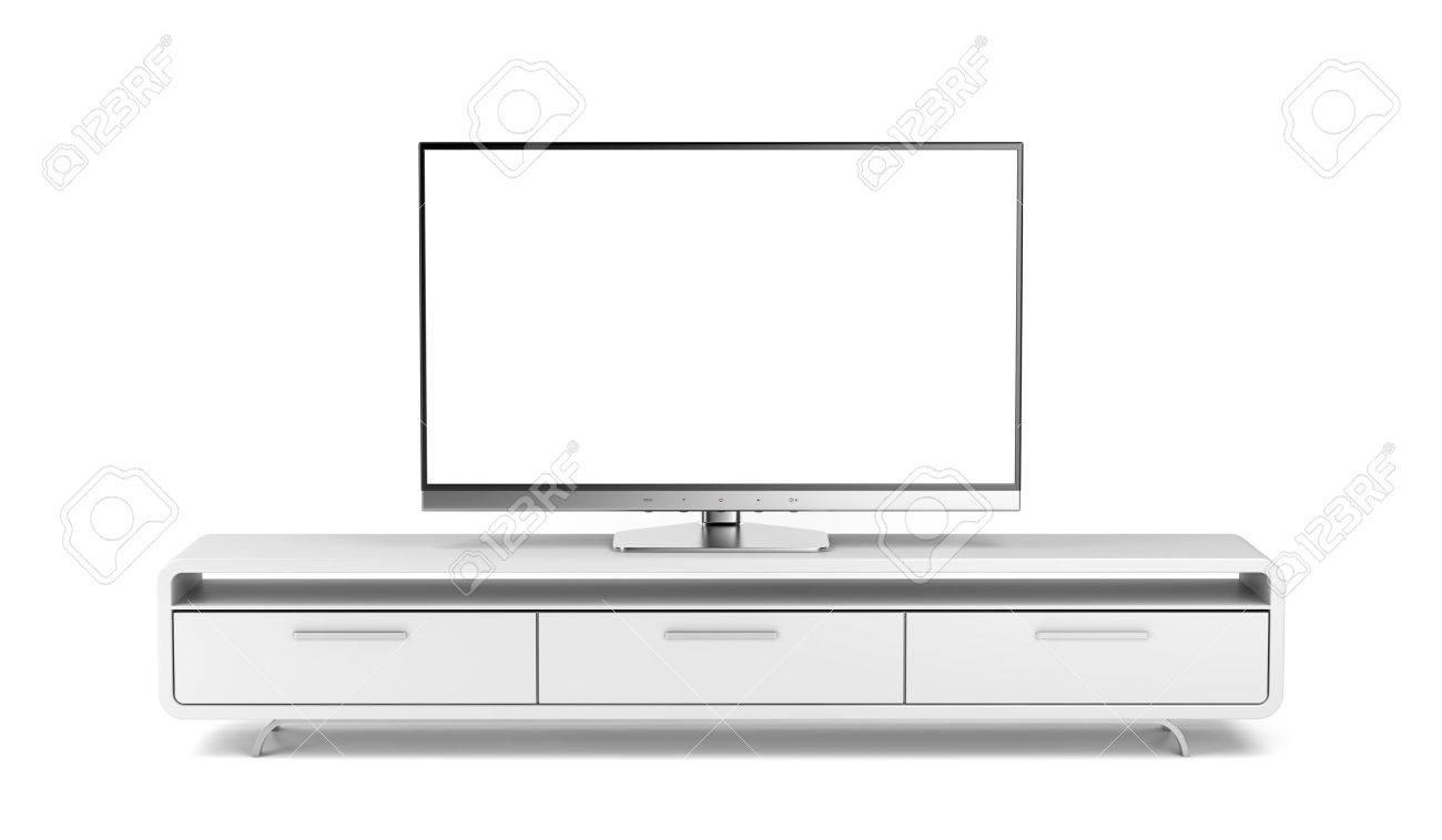 television ecran plat sur meuble tv moderne