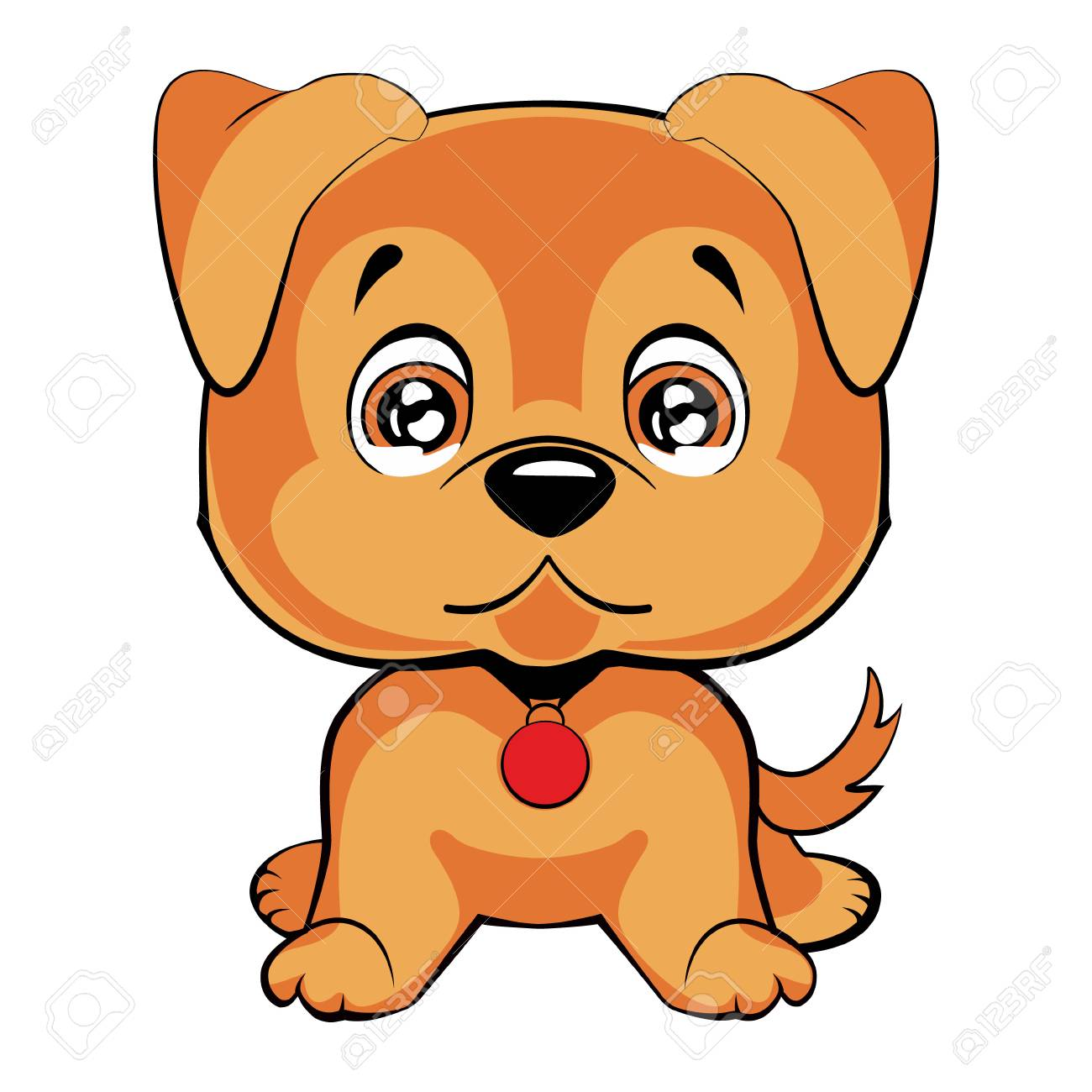 Cute Cartoon Dog Children S Illustration Funny Baby Animal Royalty Free Cliparts Vectors And Stock Illustration Image 75415107
