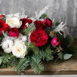 Winter Decor The Composition Of The Branches Nobilis And Fresh Stock Photo Picture And Royalty Free Image Image 90925128