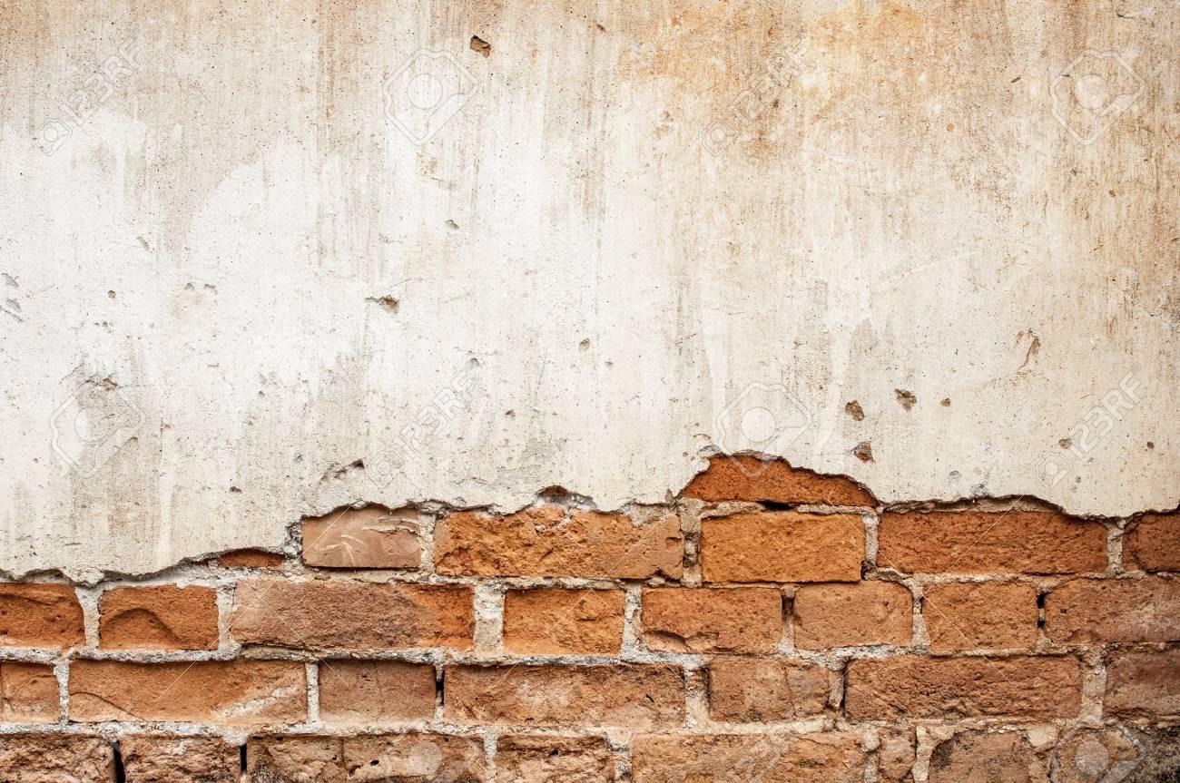 mur de briques casse en arriere plan