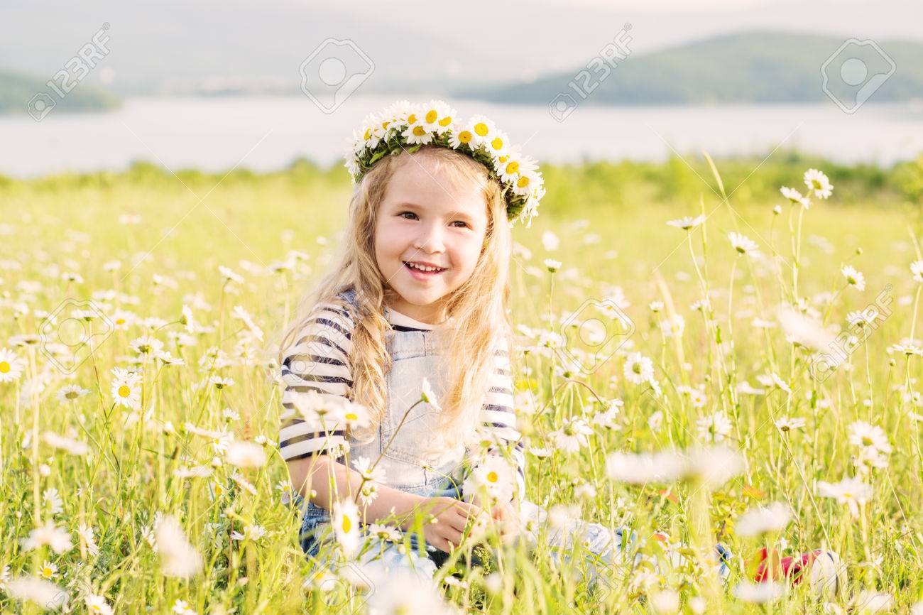 Image result for girl in camomile field