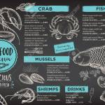 Seafood Restaurant Brochure Menu Design Royalty Free Cliparts Vectors And Stock Illustration Image 53222429