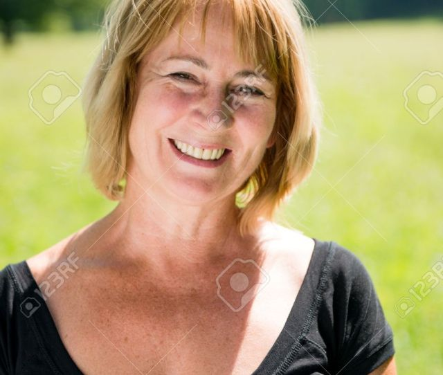 Smiling Mature Woman Outdoor Portrait Stock Photo 15198631