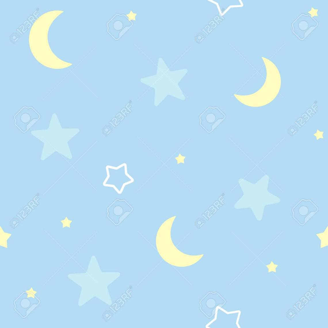 Cute Seamless Pattern Background With Stars And Moon Children S Royalty Free Cliparts Vectors And Stock Illustration Image 95526666