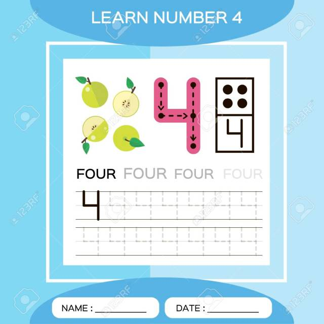 Learn Number 11. Four . Children Educational Game. Kids Learning