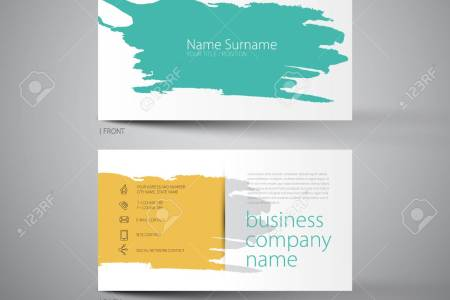 Art Business Card Template With Stain Of Spatter Style Design     Art business card template with stain of spatter style design Stock Vector    44832097