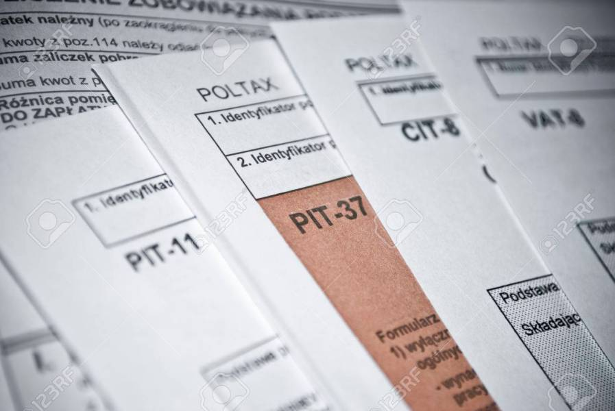 Blank Income Tax Forms Polish Forms PIT CIT And VAT Stock Photo     Blank income tax forms Polish forms PIT CIT and VAT Stock Photo   26334692