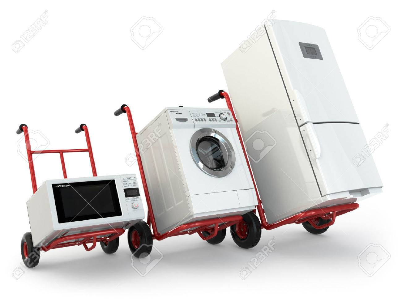 appliance delivery hand truck fridge washing machine and microwave