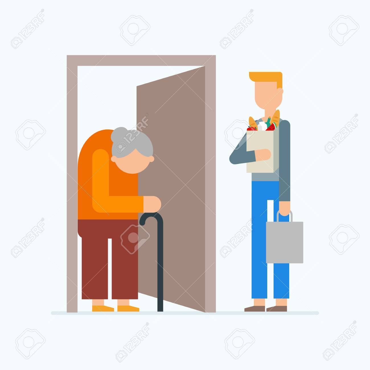 Image result for old people getting food delivery