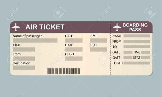 plane ticket template free download