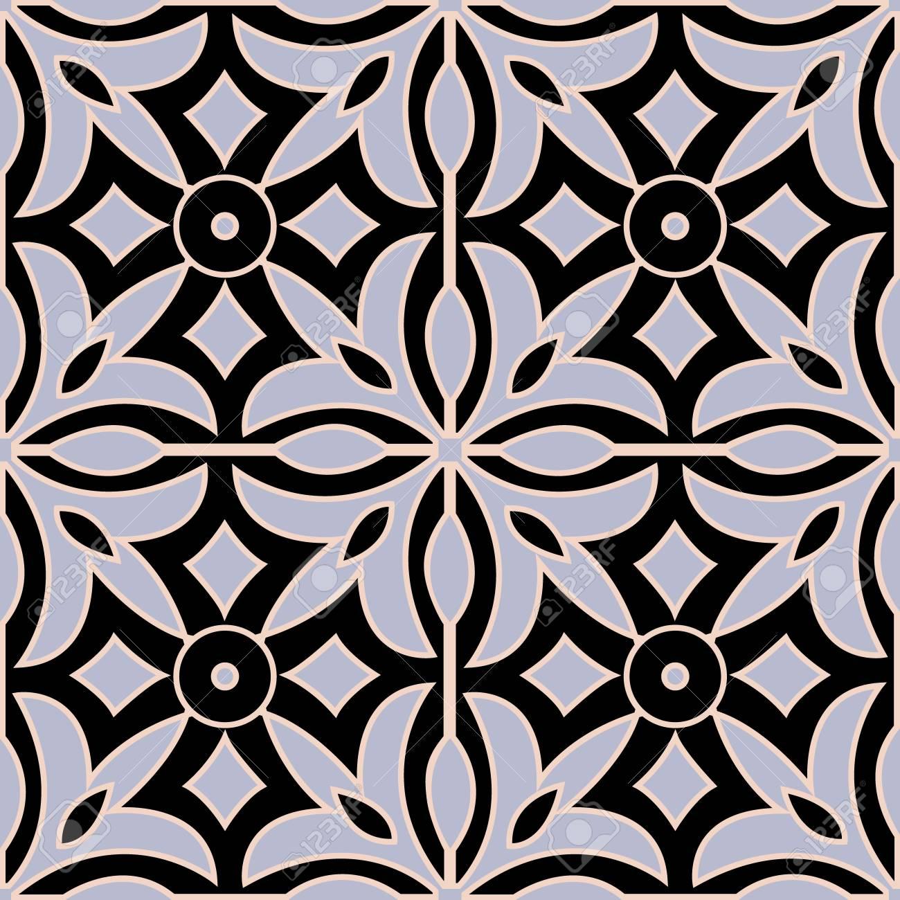 the moroccan mural decorative design seamless pattern and ceramic