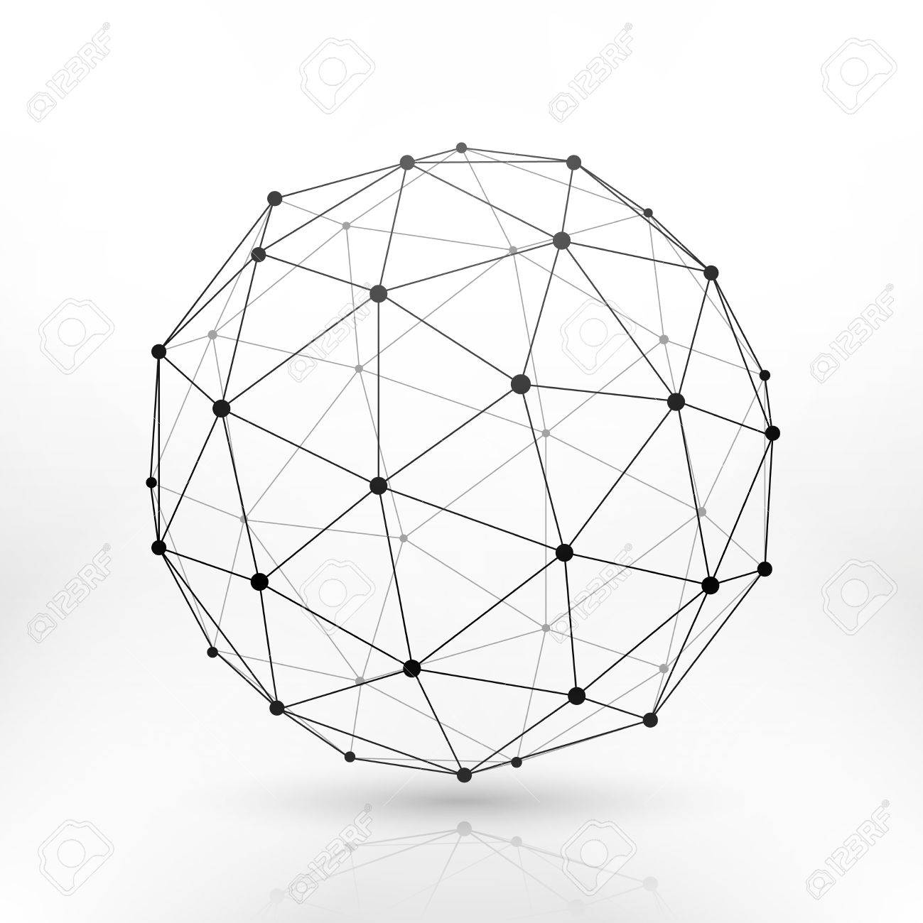 Wireframe globe sphere connectivity work tech connection