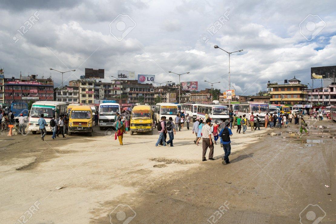 KATHMANDU, NEPAL - JULY 28: Scenery Of Kathmandu Main Bus Station.. Stock  Photo, Picture And Royalty Free Image. Image 38141161.