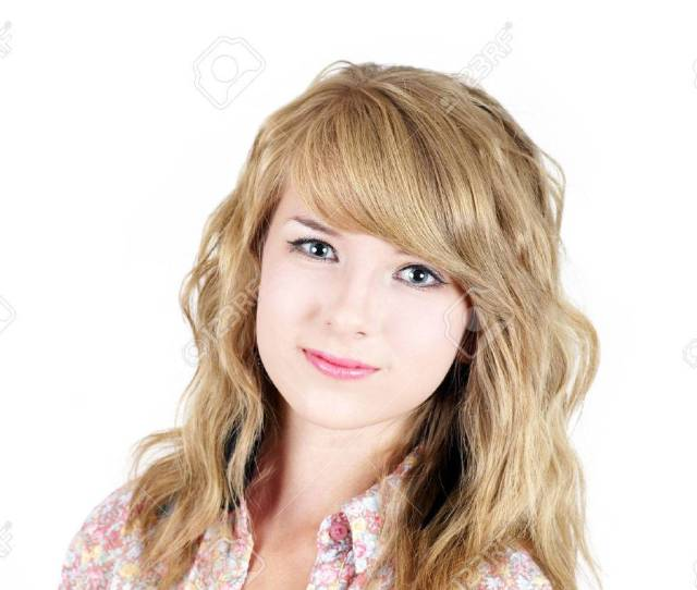 Natural And Pretty Young Blond Teenager Girl Smiling Looking At Camera Stock Photo 27429158