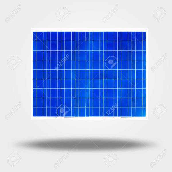 Solar Cell Isolated On Gray  Silicon Photovoltaic Cell Generating     solar cell isolated on gray  silicon photovoltaic cell generating light  energy to electricity Stock Photo