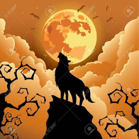 Image result for howling wolf halloween