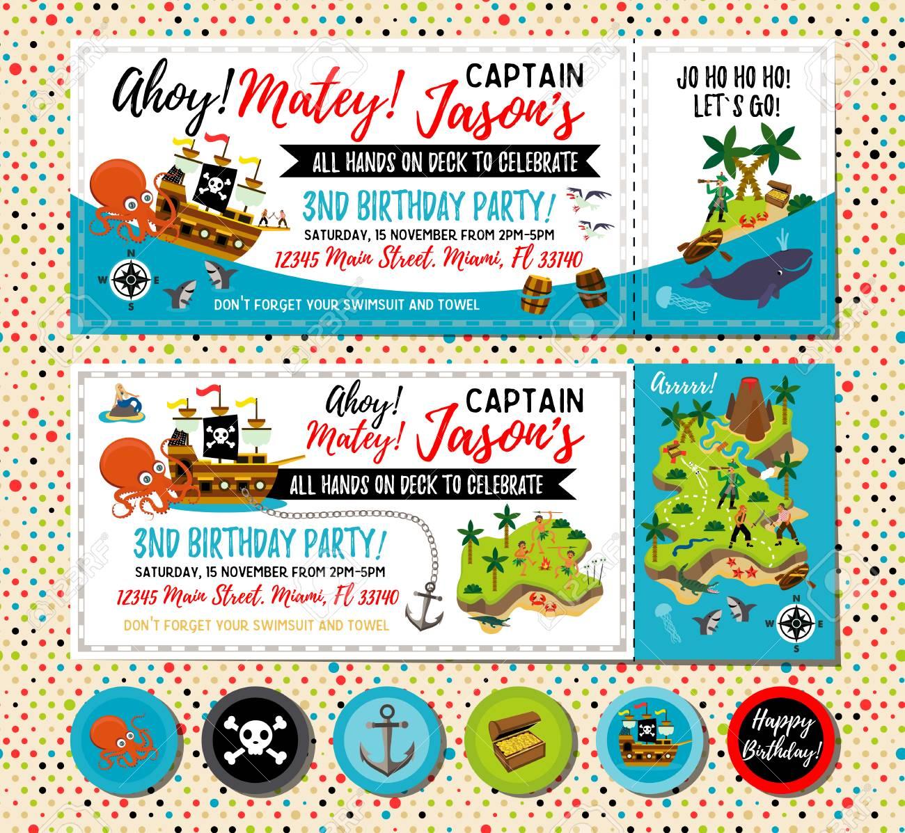 pirate birthday invitation treasure map invitation pirate party