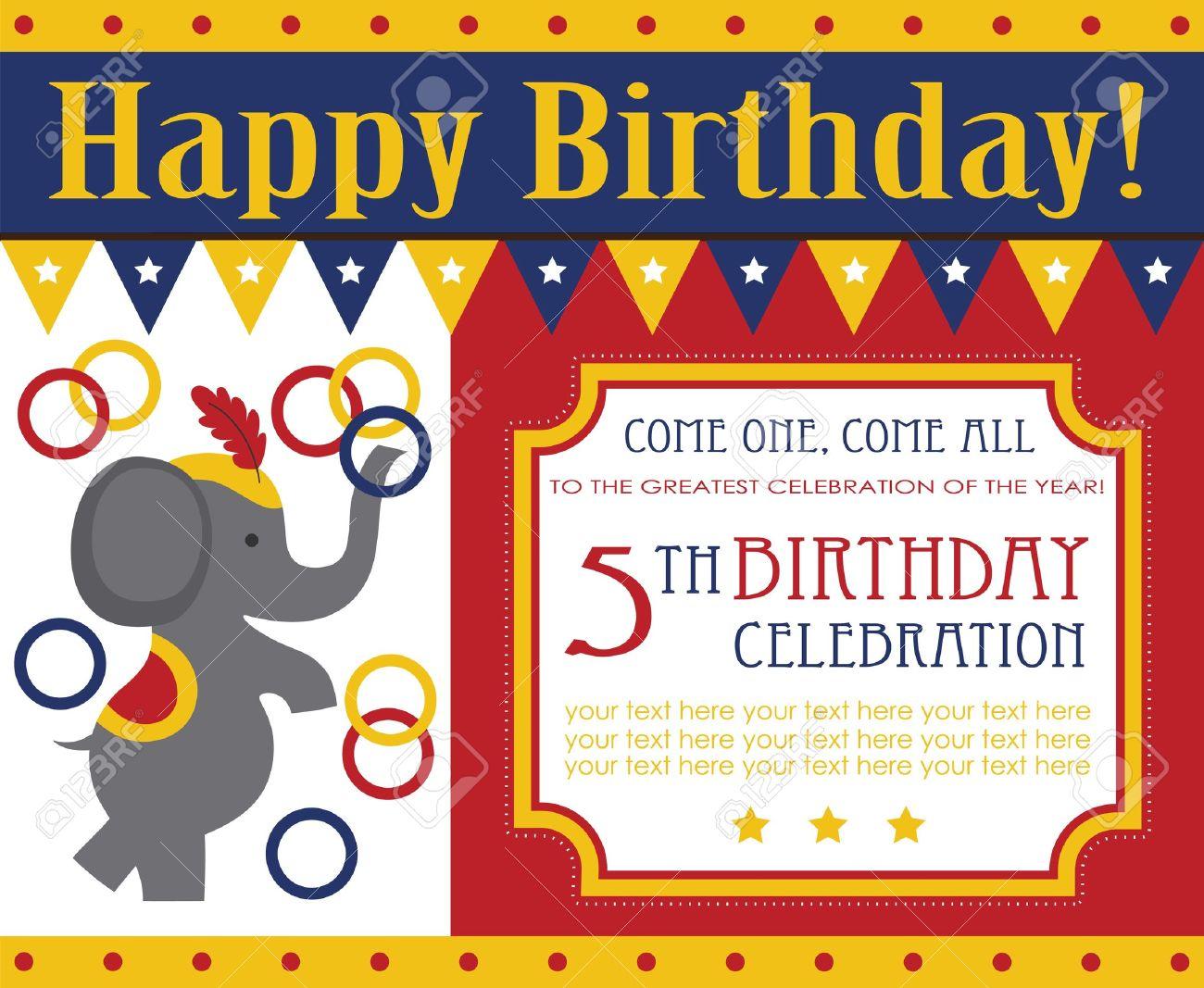 kid birthday invitation card design vector illustration