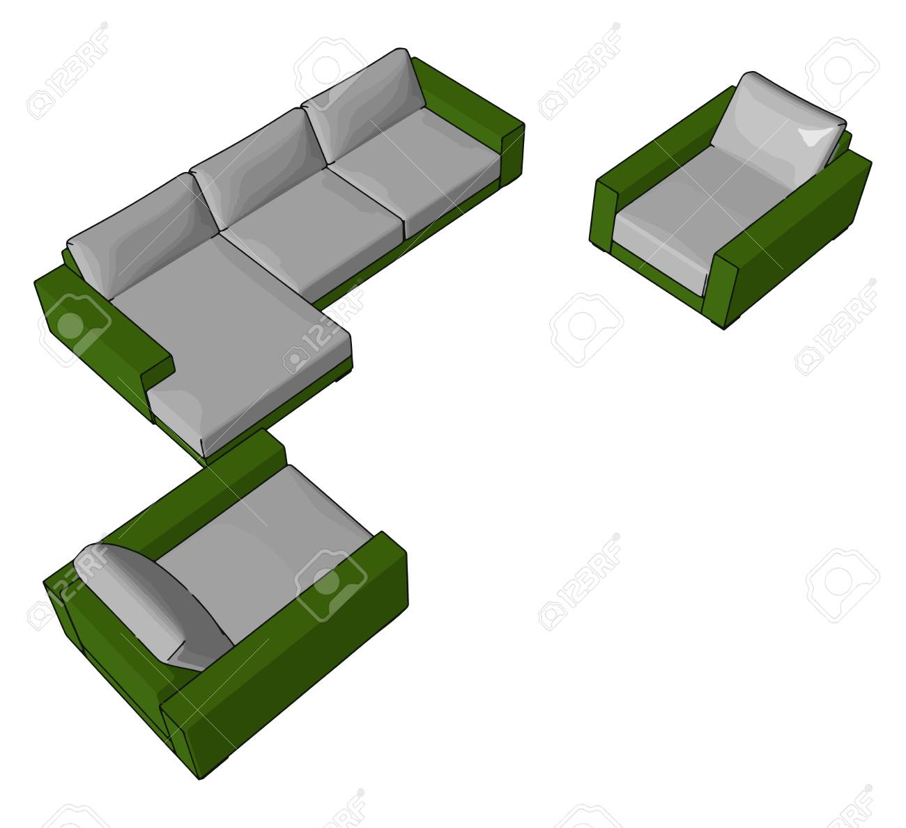 couch is a long seat often with a back and arms for sitting relaxing royalty free cliparts vectors and stock illustration image 123449461