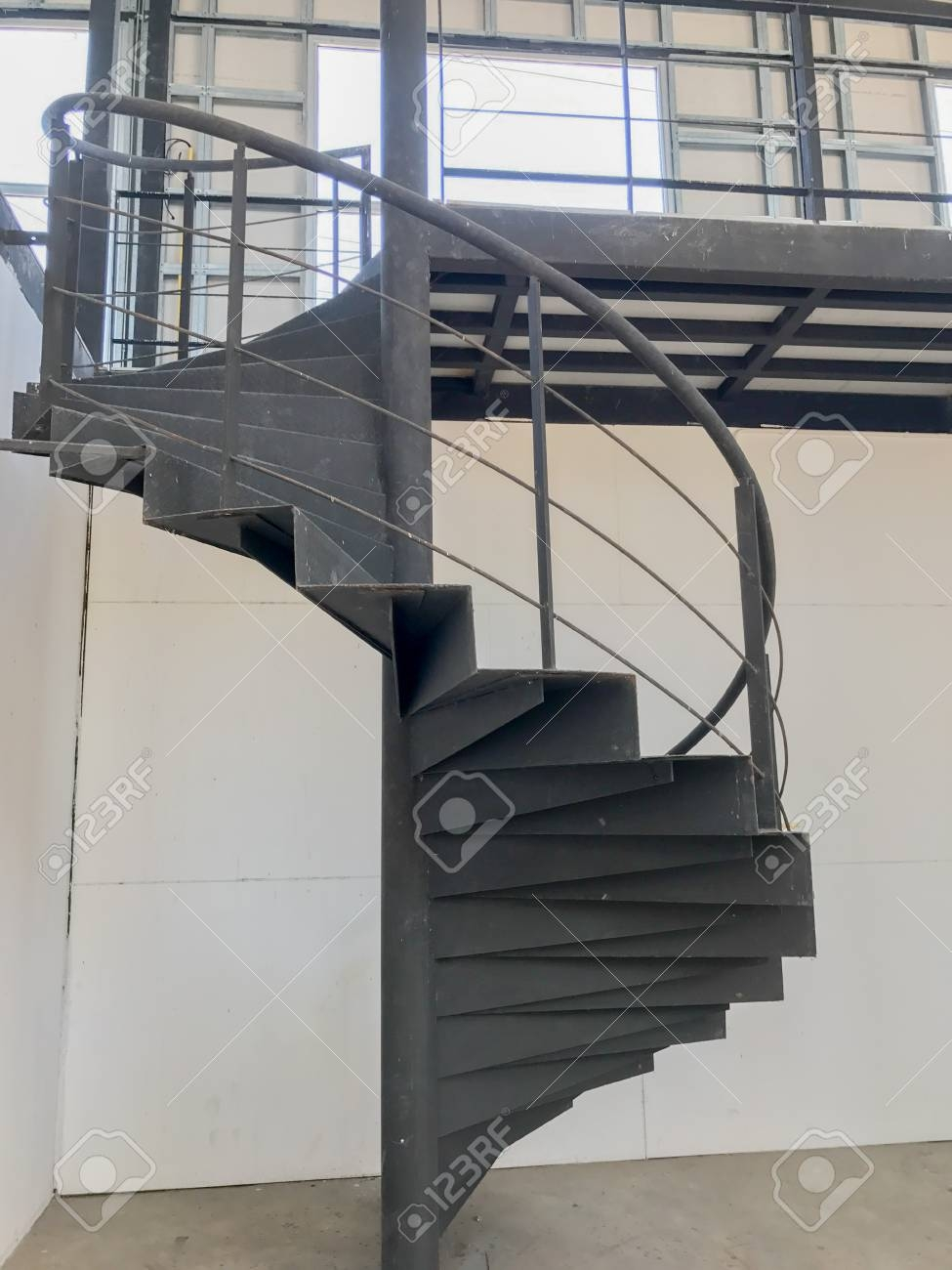 Black Metal Spiral Staircase In Thailand Stock Photo Picture And   Black Metal Spiral Staircase   Spiral Stairs   Cat Spiral   Arke   Abandoned   Circle Metal