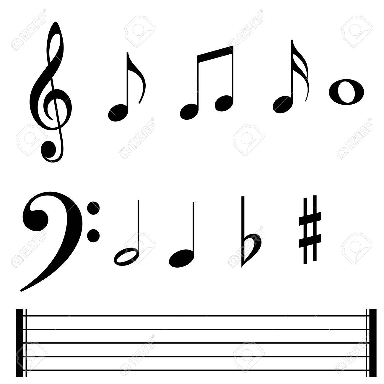 Music Note Symbols And Lines Stock Photo Picture And Royalty Free Image Image 42863428