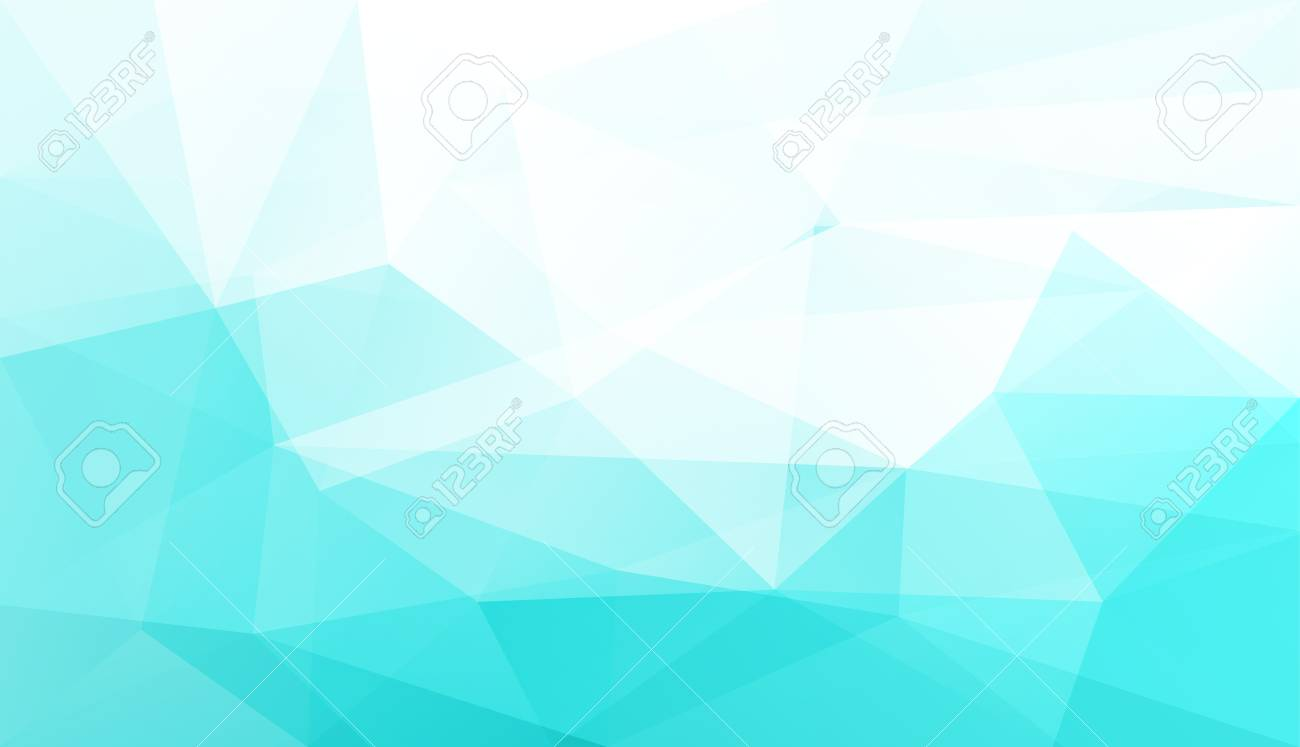 Abstract Light Blue Polygonal Geometric Background Made Of Triangles     Abstract light blue polygonal geometric background made of triangles   vector illustration  Stock Vector