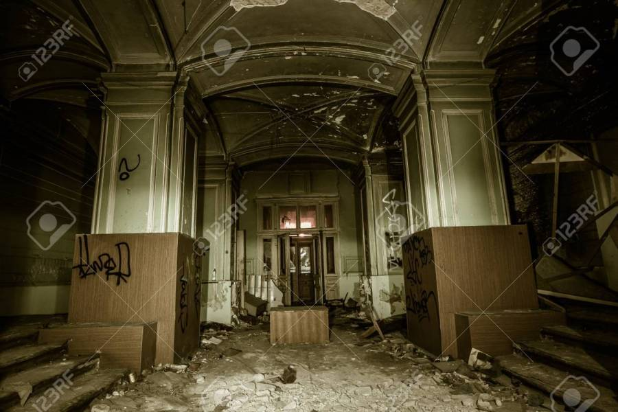 Interior Of Historical Old Abandoned Burned Mansion  Saint     Interior of historical old abandoned burned mansion  Saint Petersburg Stock  Photo   70751917