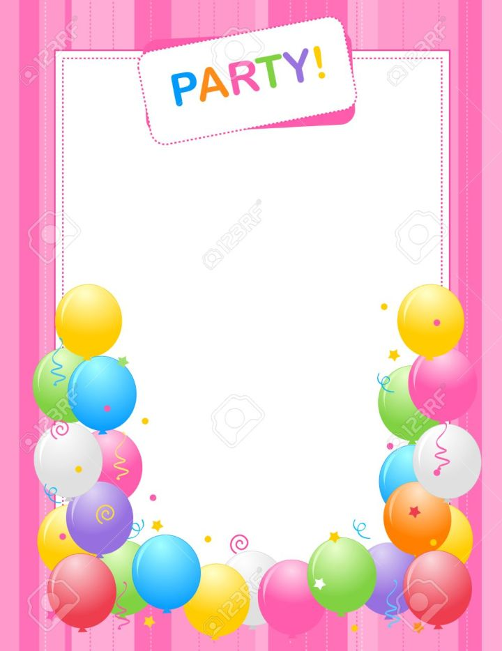 Birthday Party Borders And Frames Framess
