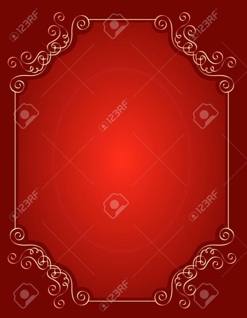 Wedding Invitation Background Designs Red And Gold | Inviview.co