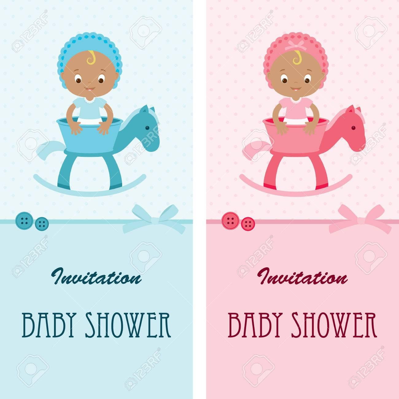 baby shower de garcon et de fille cartes d invitation