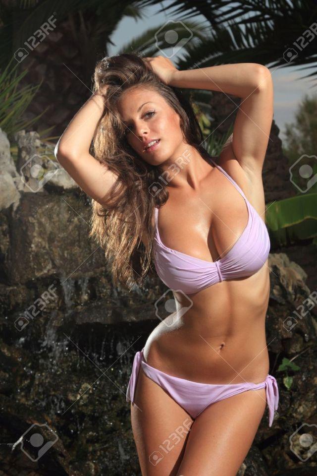 Sexy Bikini Model Posing In Greece At Dawn Stock Photo 10912967