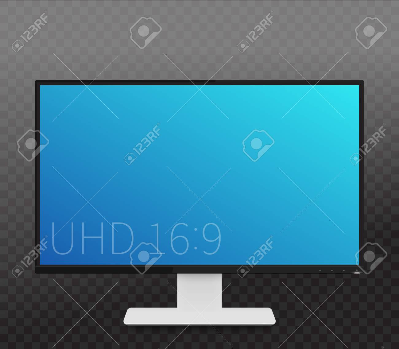 Monitor Mockup Realistic Display With Wide Screen Royalty Free