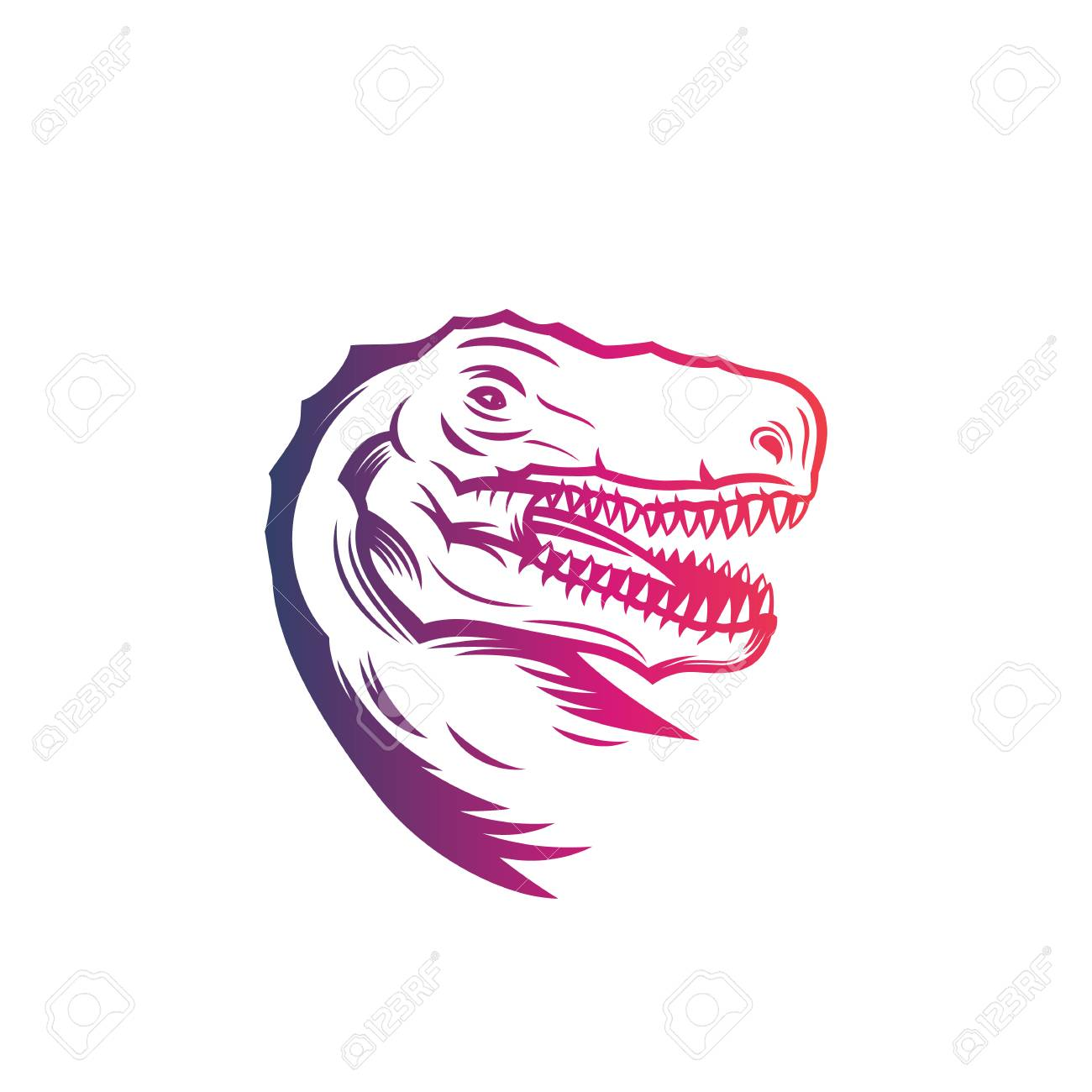 Tyrannosaurus Rex Head Of T Rex Vector Outline Isolated On Royalty Free Cliparts Vectors And Stock Illustration Image 99231278