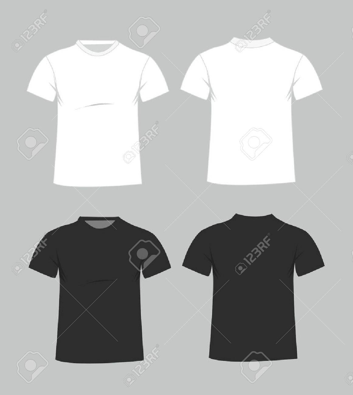 Blank T shirt Template  Front And Back Royalty Free Cliparts     Blank t shirt template  Front and back Stock Vector   42707427