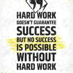 Hard Work Doesn T Guarantee Success But No Success Is Possible Royalty Free Cliparts Vectors And Stock Illustration Image 52827780