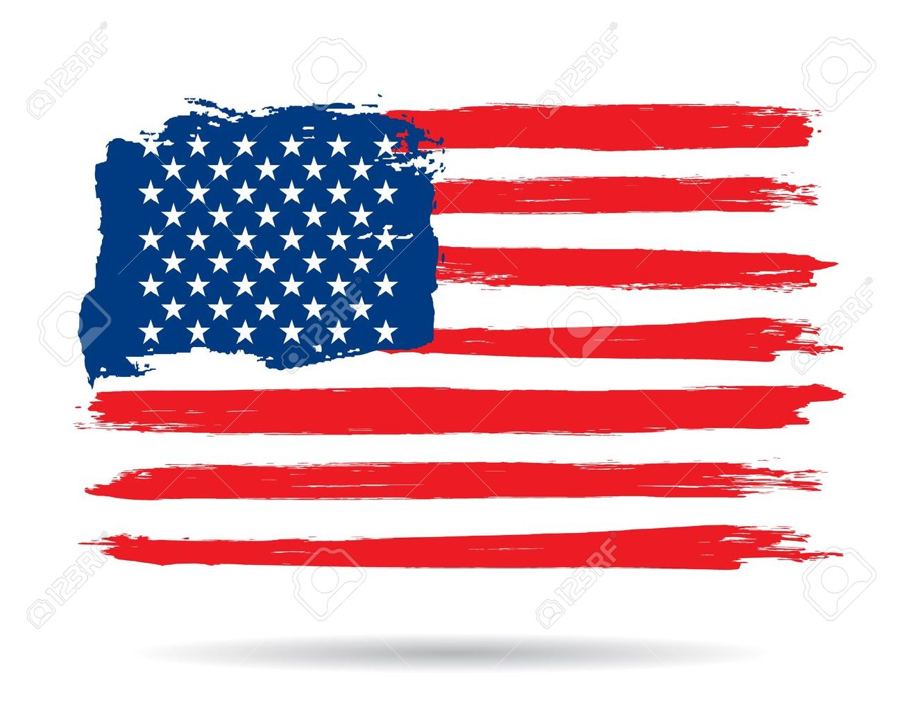 Grunge Brush Stroke Watercolor Of American Flag Vector Illustration Royalty Free Cliparts Vectors And Stock Illustration Image 17177518