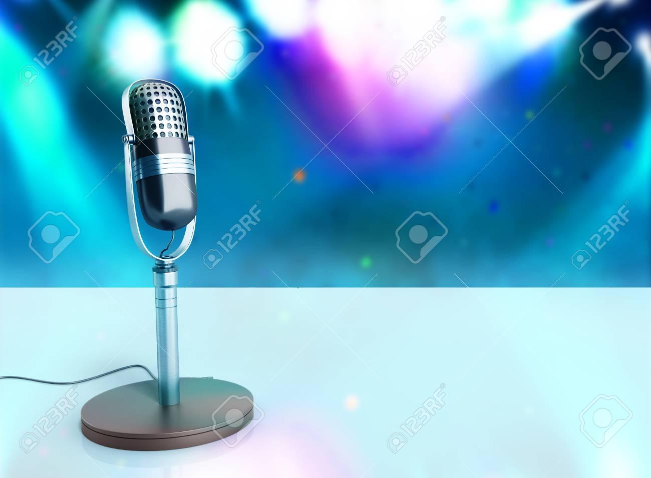 fond d ecran vintage karaoke en bois micro argente